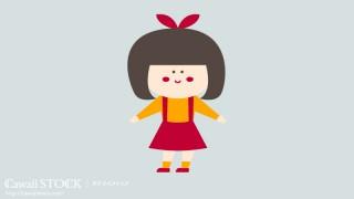 女の子のイラスト素材 01