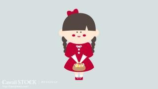 女の子のイラスト素材 02