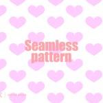 ハートのシームレスパターン02